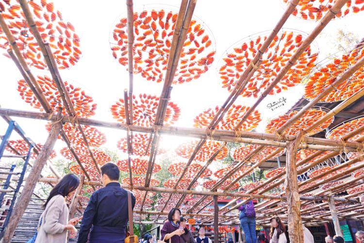 新竹新埔景點 | 味衛佳柿餅觀光農場 橘油油一片曬柿場超好拍 9至1月天天免費開放參觀 新竹特產伴手禮 柿餅加工站