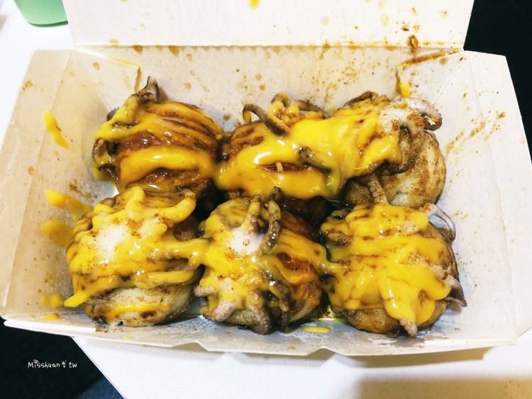 台中西區美食 初堂燒 向上市場章魚燒 整隻小章魚入丸口感超特別 燒燙燙現點現做 中美街美食