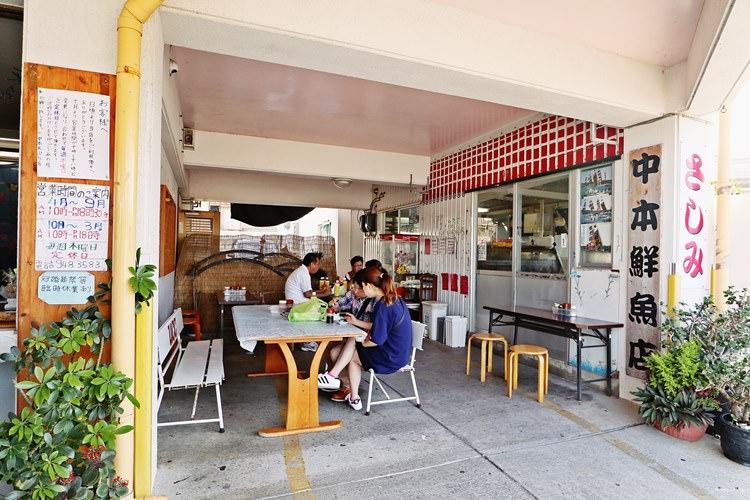 日本沖繩美食 中本鮮魚店 天ぷら店 奧武島的排隊天婦羅 連貓咪島的貓咪都愛吃