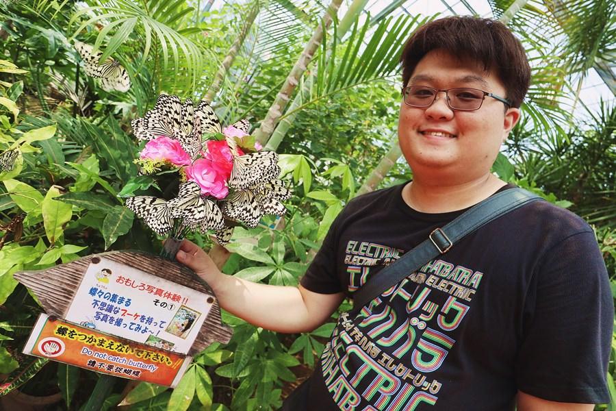 沖繩景點 琉宮城 蝶々園 零距離與數量爆多的蝴蝶在花園共舞 美麗海水族館旁